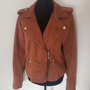 Vegan leather Motorcycle jacket NWT